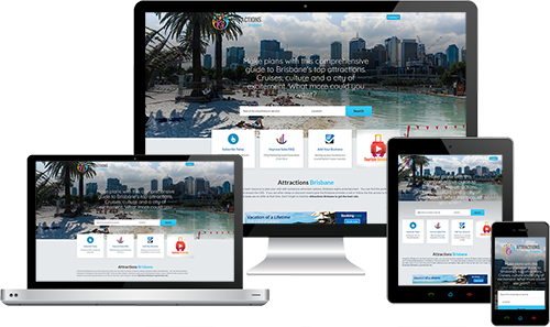 Attractions Brisbane displayed beautifully on multiple devices
