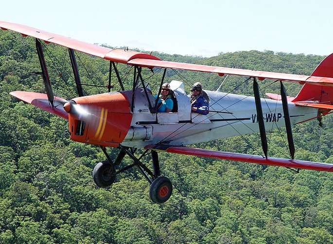 Tigermoth Joy Rides - Attractions Brisbane