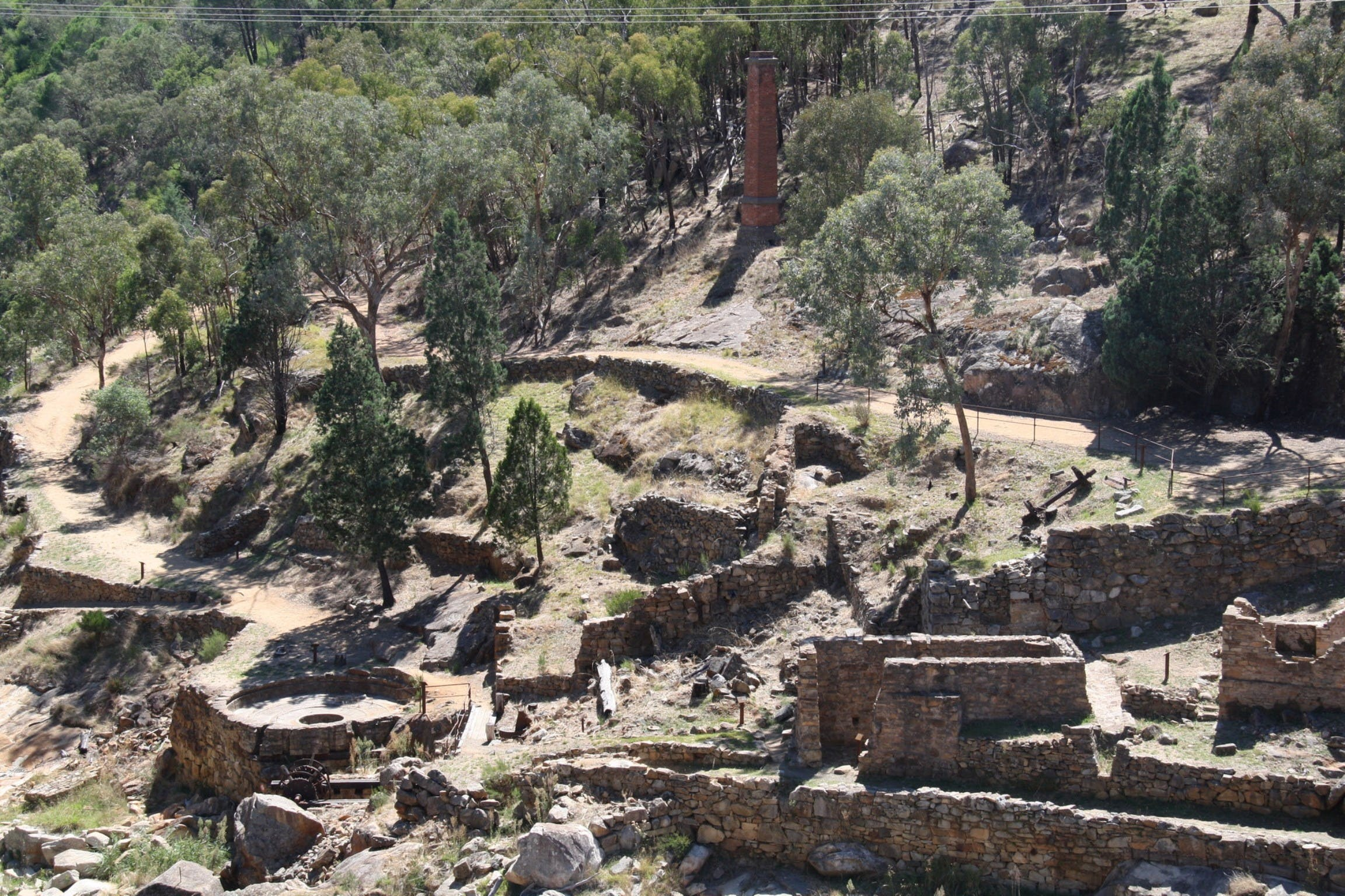 Adelong Falls Gold Mill Ruins - Attractions Brisbane