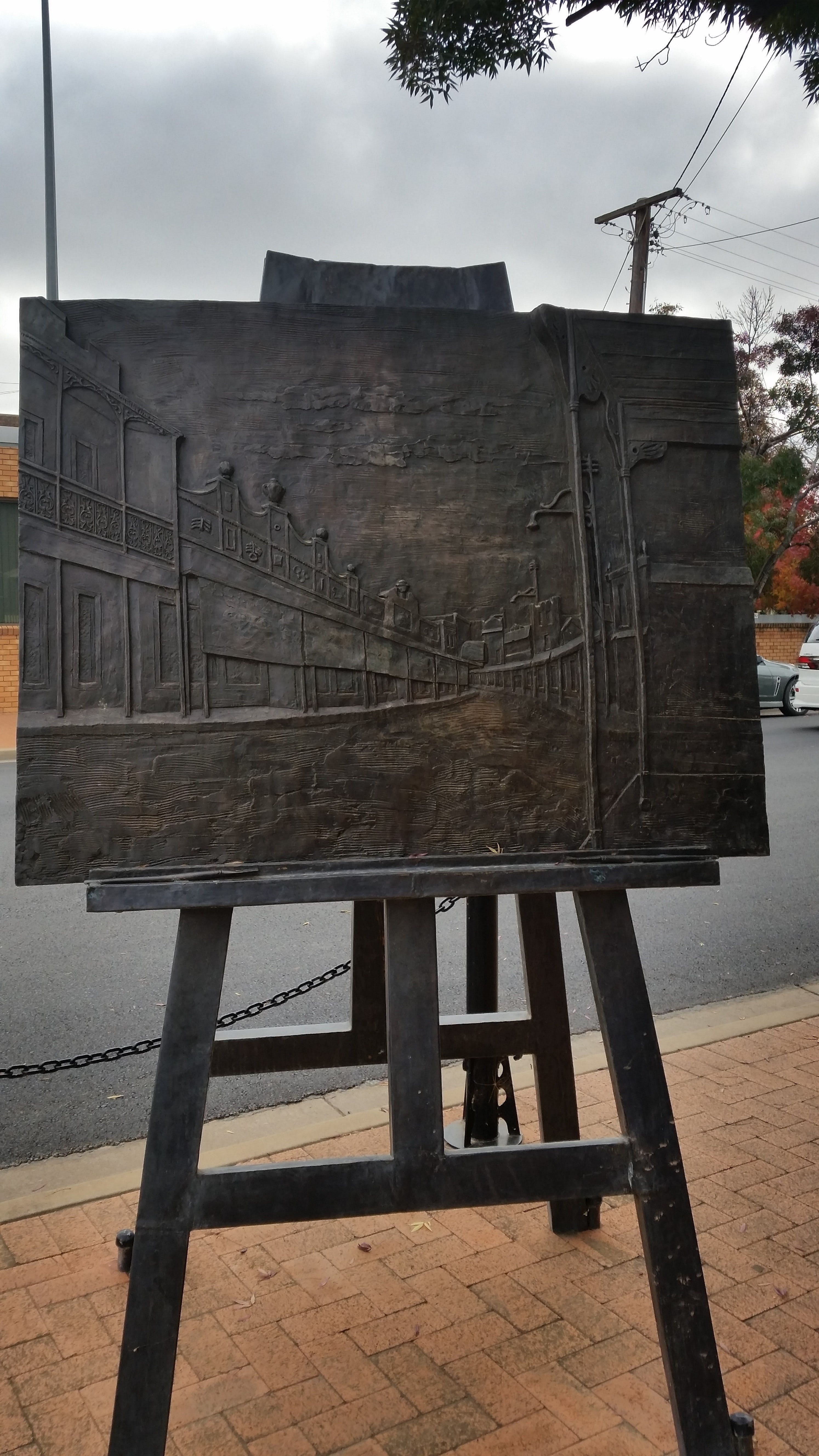 Russell Drysdale Easel Sculpture - Attractions Brisbane