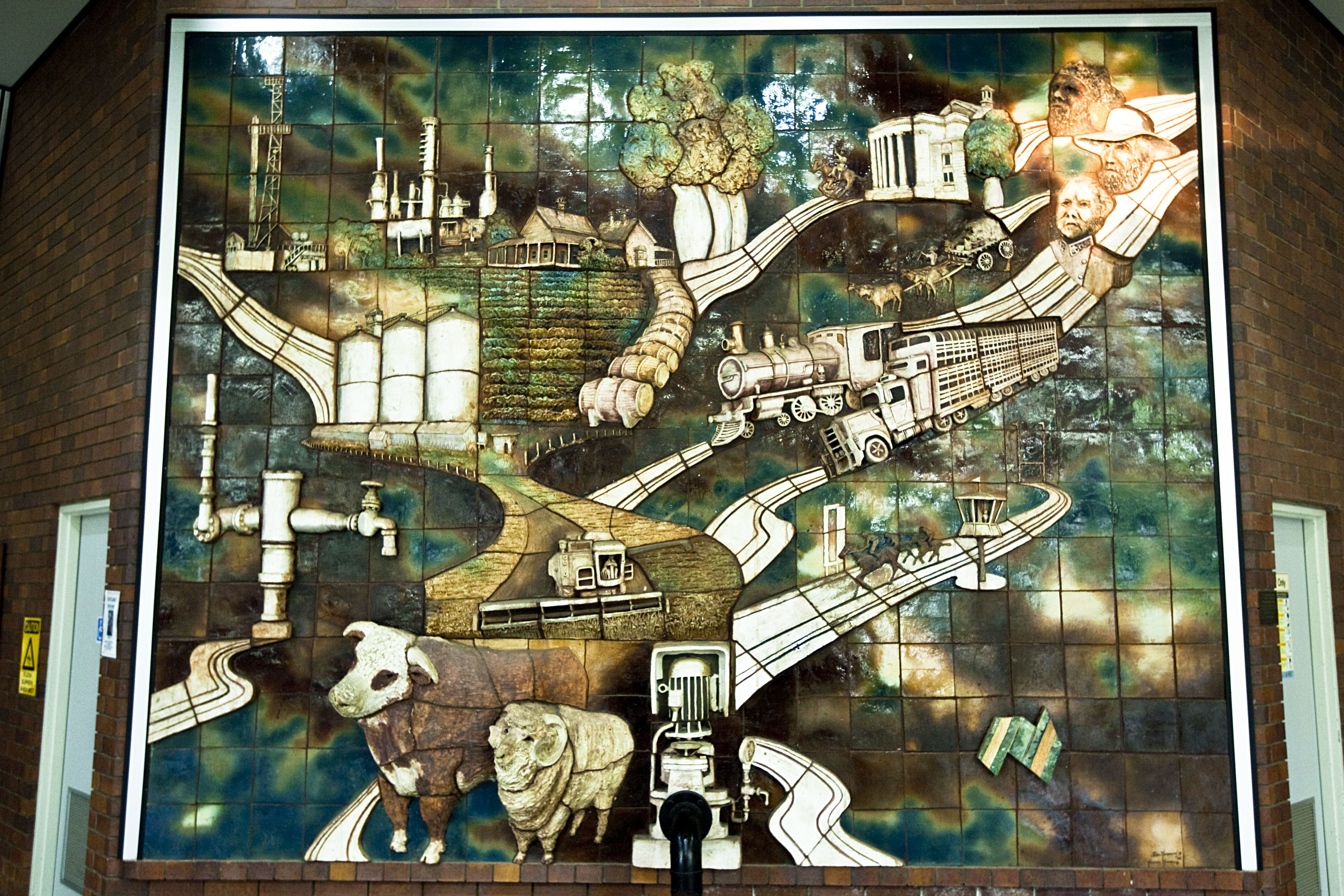Three Dimensional Mural - Attractions Brisbane